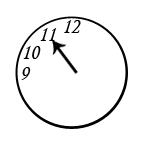 eleven o clock in Chicago