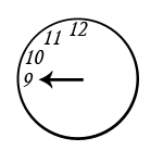 Nine o clock in California