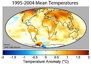 Global Warming Map by Robert A. Rohde public domain image