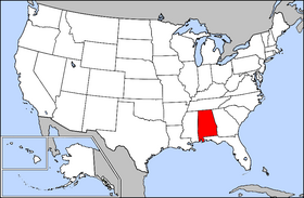 USA geography Alabama