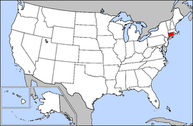 USA Geography Connecticut Highlighted