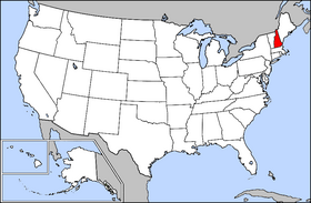 USA Geography New Hampshire Highlighted