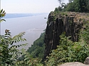 Pallisades Sill near Englewood Cliffs overlooking Hudson River