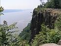 Pallisades Sill near Englewood Cliffs overlooking Hudson River