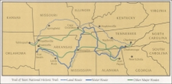 Trail of Tears Map Illinois Geography