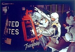 NASA image Glenn entering Friendship 7